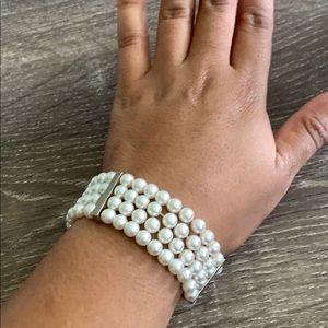 Faux Pearl Cuff Bracelet